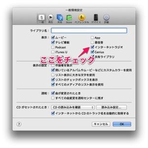 写真 iTunesの一般環境設定